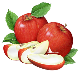 Apples-red-two-whole-slices-leaves_edite