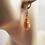 Thumbnail: Elegant Purple and Gold Murano Glass Teardrop Earrings