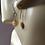 Golden Murano Glass Earrings on Ears 3