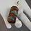 Thumbnail: Chunky Orange and Gray Lampwork Glass Pendant Necklace