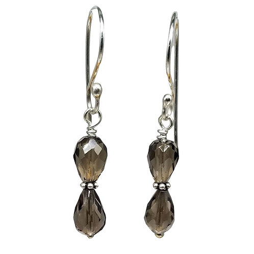 Smoky Quartz Gemstone Earrings