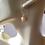 Golden Murano Glass Earrings on Ears 2