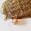 White Gold and Copper Flecked Murano Glass Pendant with Chain