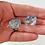 Aqua Dichroic Murano Glass Earrings in Hand