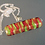 Thumbnail: Chunky Lime Green, Orange, and Gold Venetian Glass Pendant Necklace