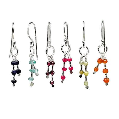 Gemstone Sparkler Dangle Earrings for the Holidays