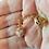 White Gold and Copper Flecked Murano Glass Pendant in Hand 2
