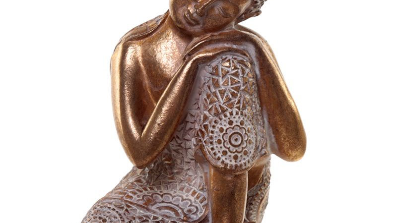 Gold and White Thai Buddha - Contemplation