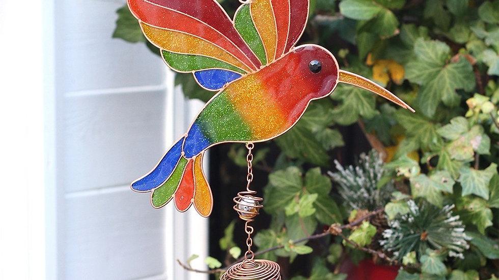 MULTICOLOURED HUMMINGBIRD WINDCHIME