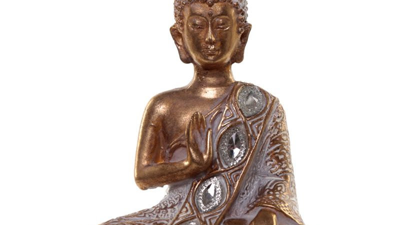 Gold and White Thai Buddha - Meditation