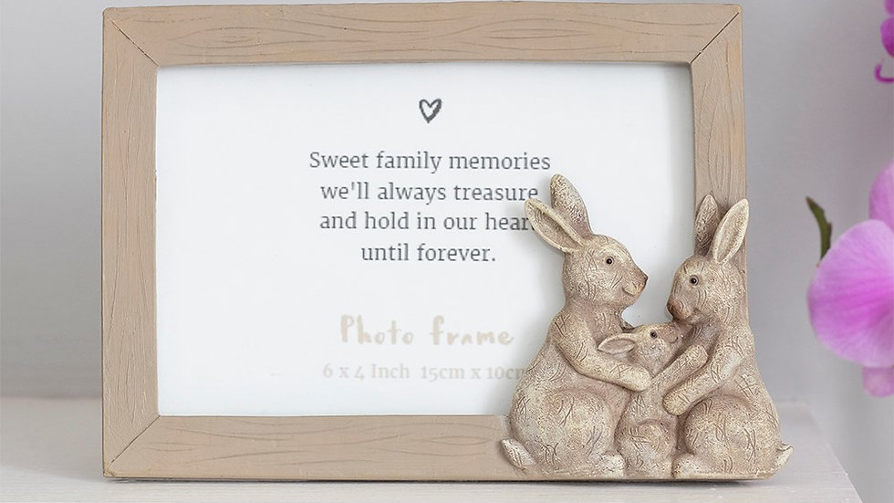 6X4IN FLUFFLE FAMILY BUNNY PHOTO FRAME I'M NEW