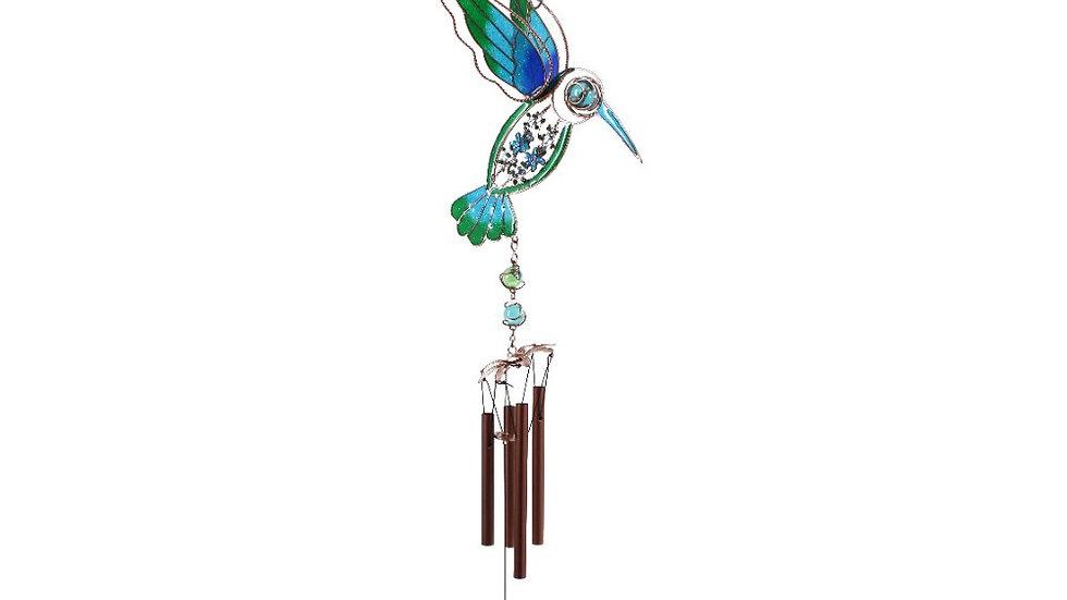 BLUE/GREEN HUMMINGBIRD WINDCHIME