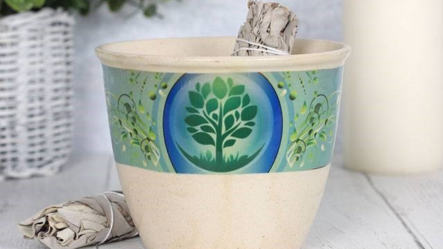 12.5CM TREE OF LIFE SMUDGE BOWL