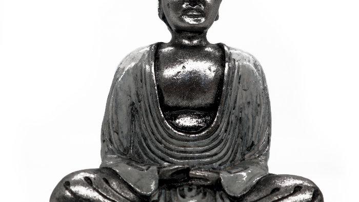 White & Grey Buddha - Medium