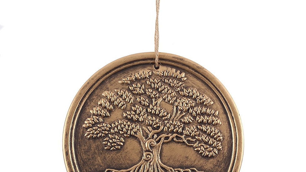 BRONZE TERRACOTTA TREE OF LIFE PLAQUE BY LISA PARKER