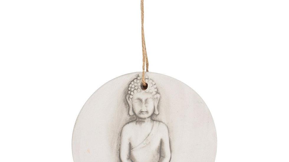 SMALL ROUND TERRACOTTA BUDDHA PLAQUE