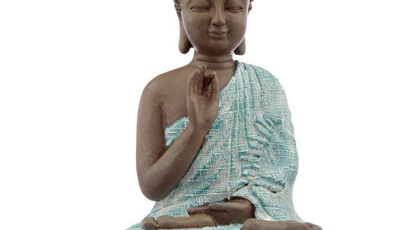 Thai Buddha, Brown, White and Turquoise - Meditation