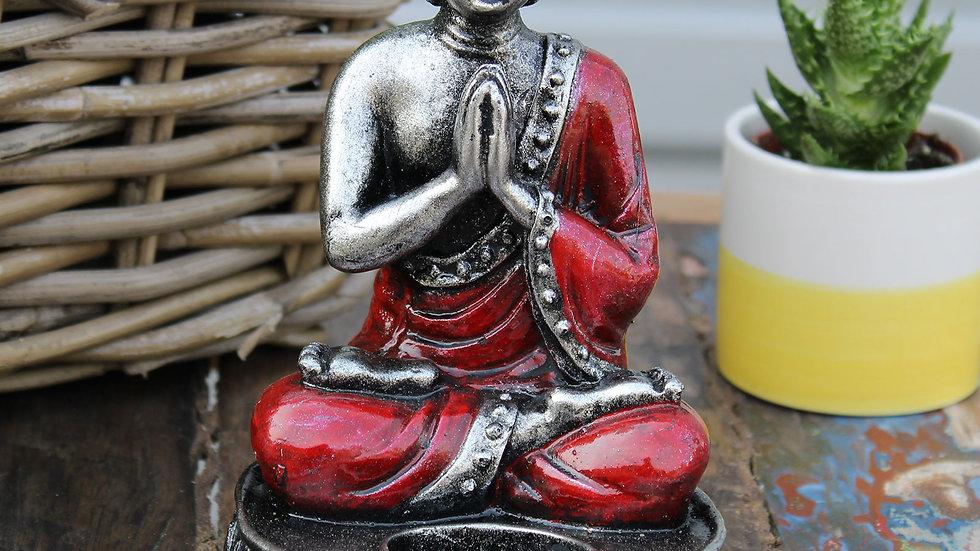 Buddha Candle Holder - Red - Medium