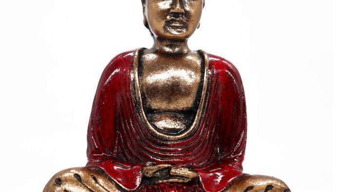 Red & Gold Buddha - Medium