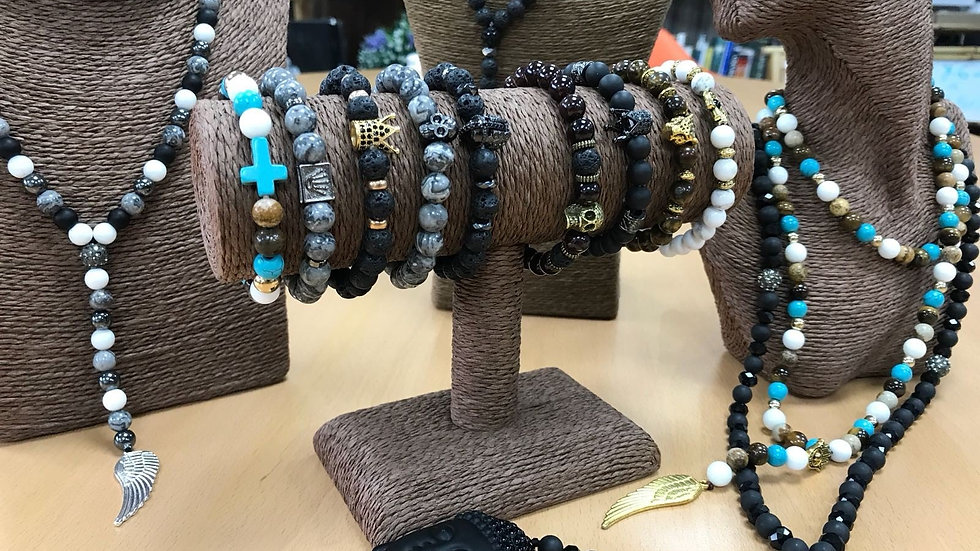 Boho Bling Gemstones Bracelets