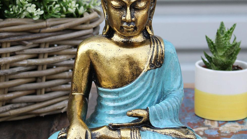 Teal & Gold Buddha - Large