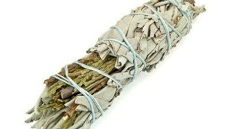 Smudge Stick - White Sage & Cedar 10cm