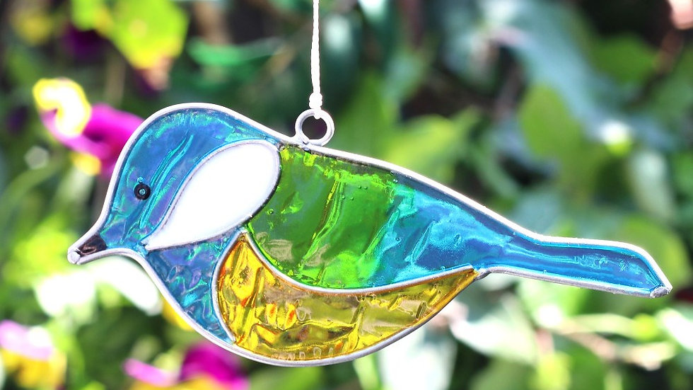 BLUE TIT BIRD SUNCATCHER