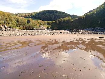 A view of Lee Abbey beach