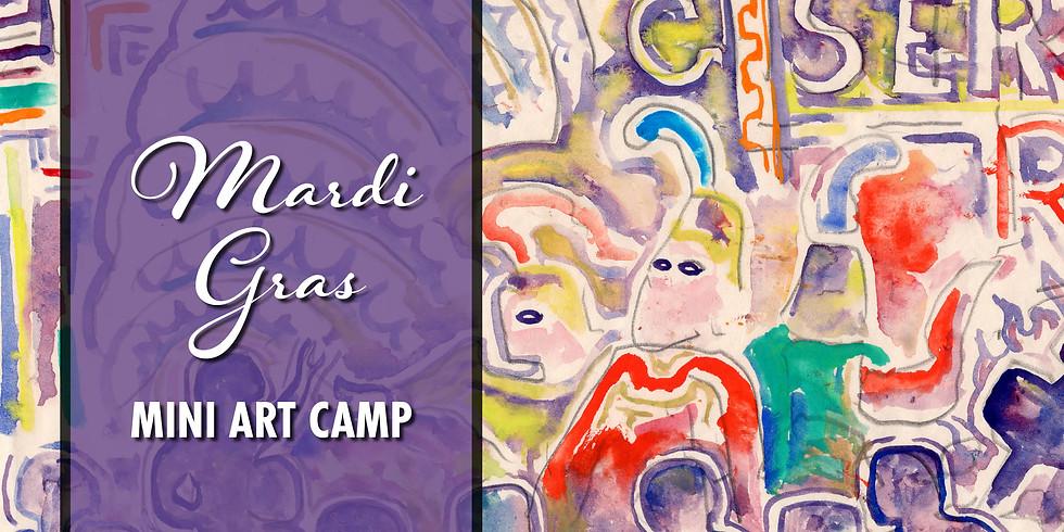 Mardi Gras Art Camp (ages 6-12)