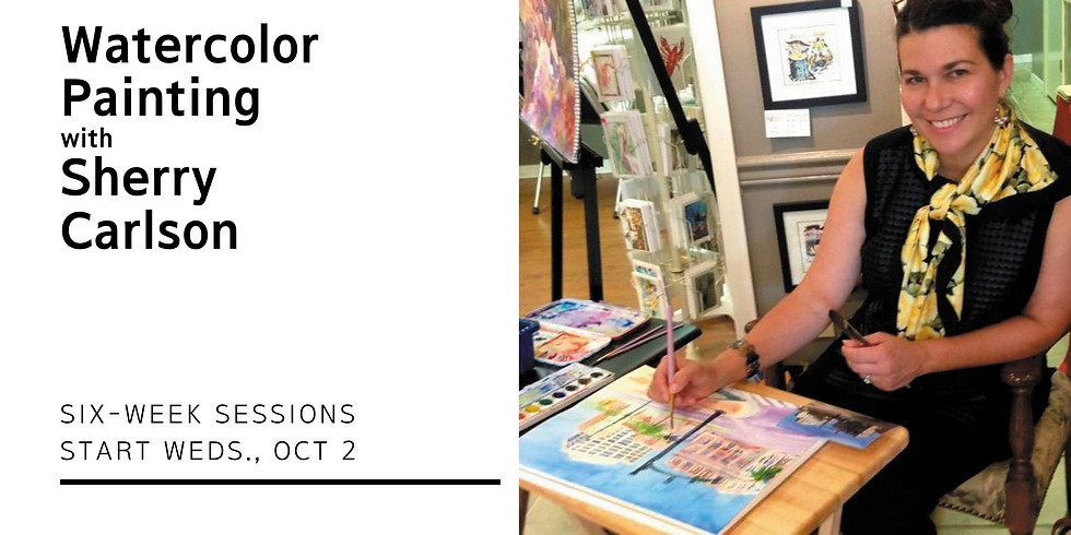 Watercolor Painting Class with Sherry Carlson | Wednesdays 10AM-noon