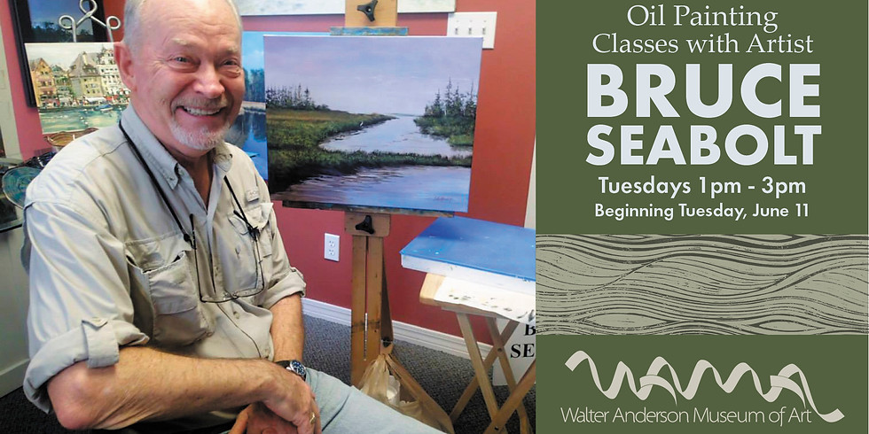 Oil Painting with Bruce Seabolt |  Tuesdays 1-3PM   (1)