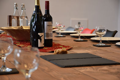 Dining table set for a celebration