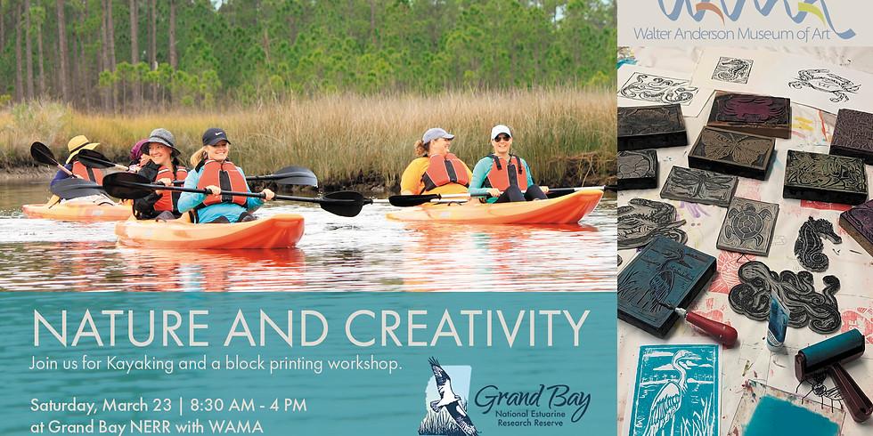 Nature + Creativity | Block Printing at Grand Bay