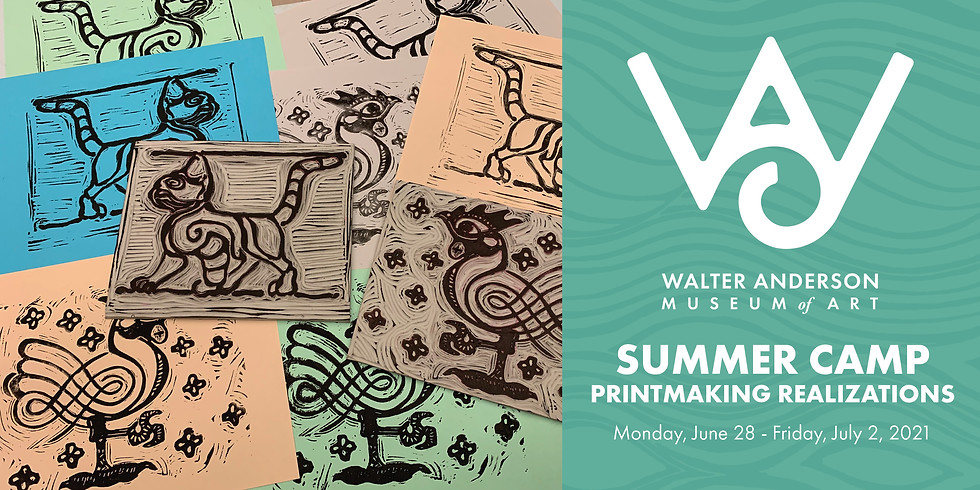 Printmaking Realizations | Ages 8-12 Summer Camp