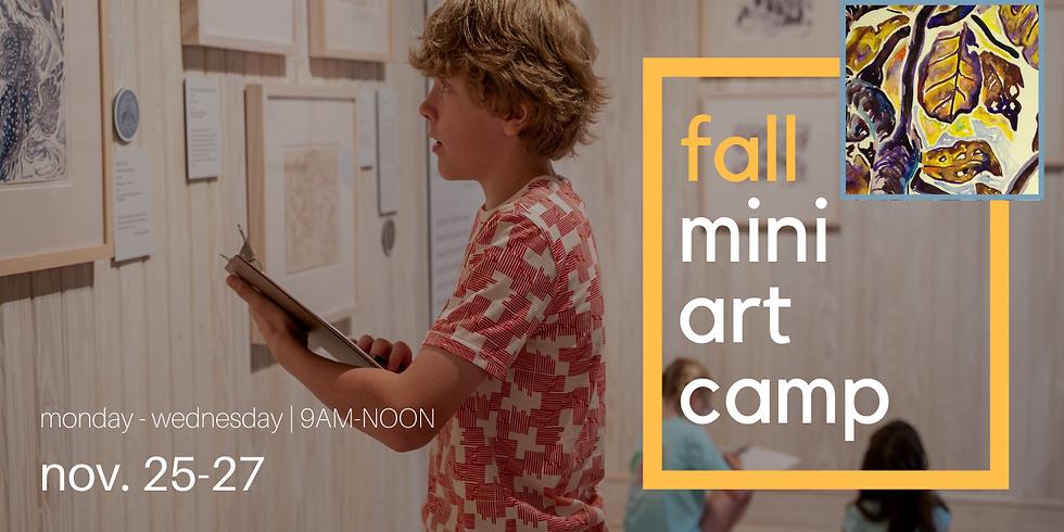 Fall Mini Art Camp (ages 7-12)