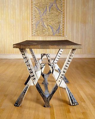 17. Blue Jay Table, c. 1933. Polychromed