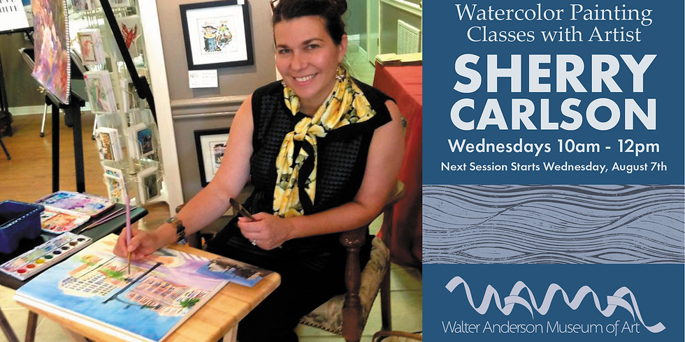 Watercolor Painting Class with Sherry Carlson   Wednesdays 10AM-noon