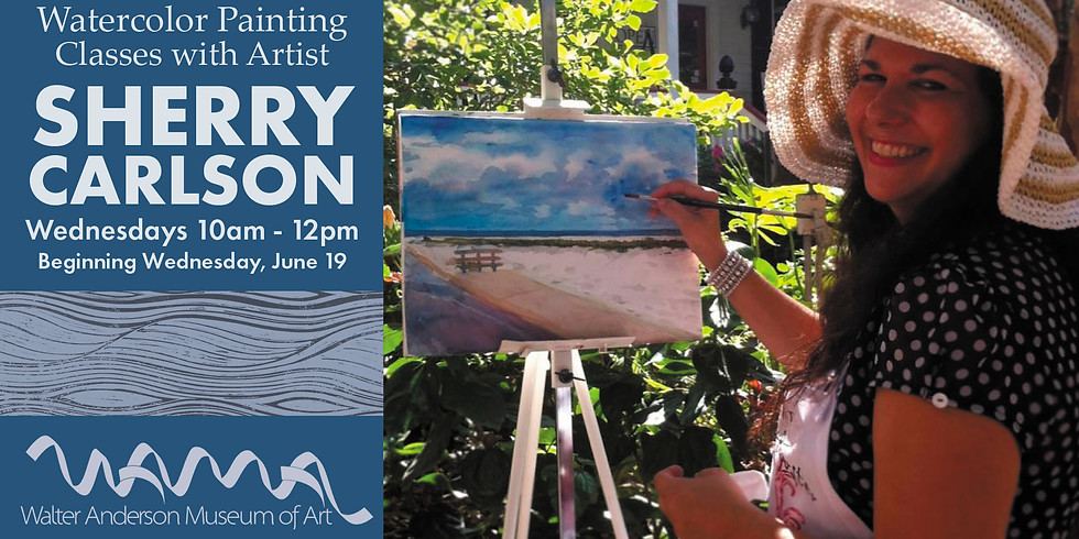 Watercolor Painting Class with Sherry Carlson | Wednesdays 10AM-noon (1)