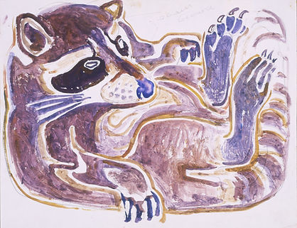 20. Contented Coon, c. 1960. Watercolor