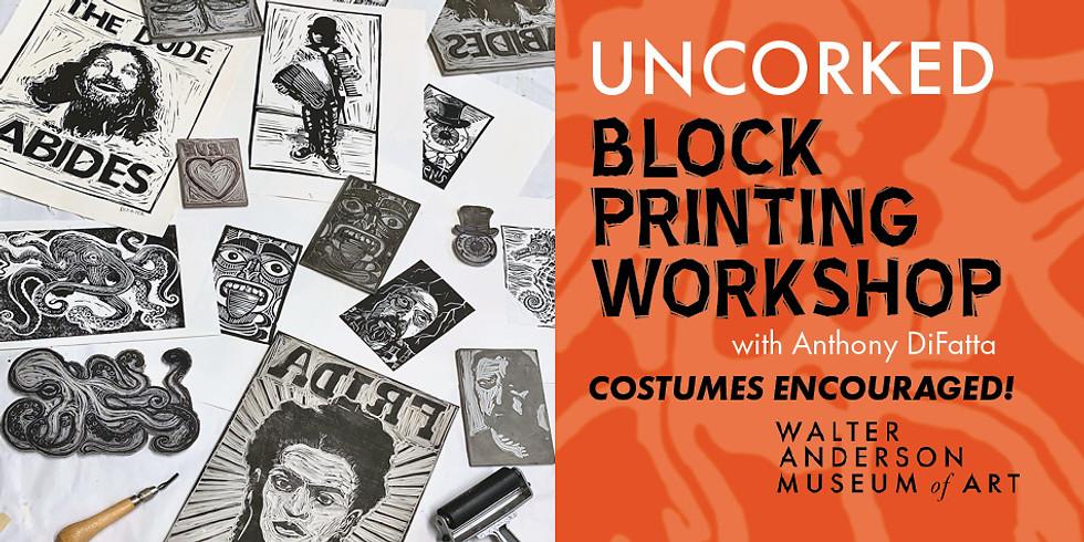 Uncorked Halloween Block Printing (BYOB)