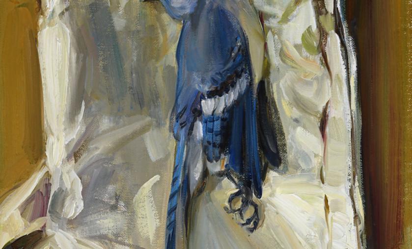 "Jason Bouldin (b. 1966), ""Blue Jay, Friars Point Road,"" 2014. Oil on Canvas."