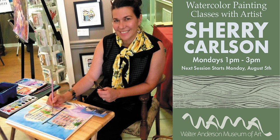 Watercolor Painting Class with Sherry Carlson   Mondays 1-3PM