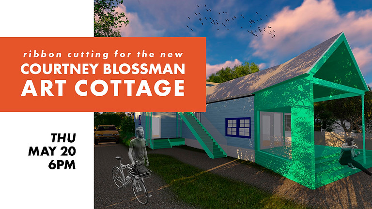 Ribbon Cutting for the Courtney Blossman Art Cottage