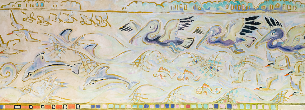 Pelicans, Dolphis and Waves CC Mural.tif