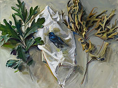8. Jason Bouldin (b. 1966), Indigo Bunting, 2020. Oil on Canvas. Courtesy of the artist.jp