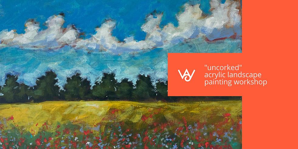 Uncorked - Acrylic Landscape Painting Workshop