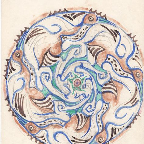 Marsh Hens Plate Design