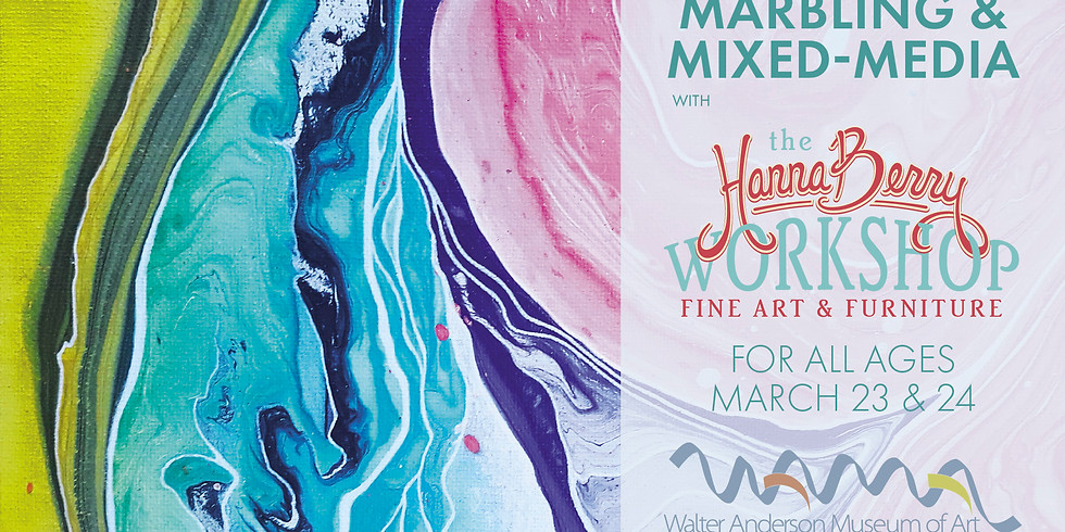 Marbling and Mixed Media with the Hanna Berry Workshop