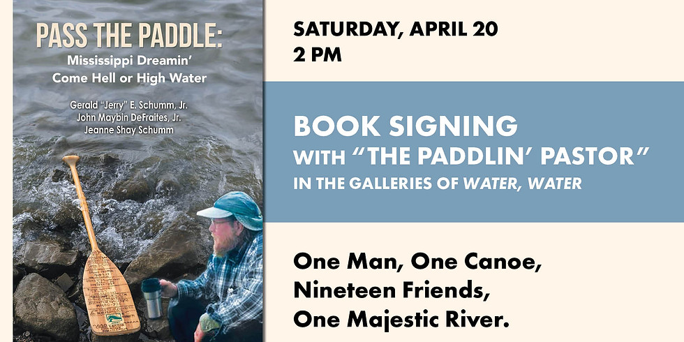 """Book Signing with """"the Paddlin' Pastor"""" Jerry Schumm"""