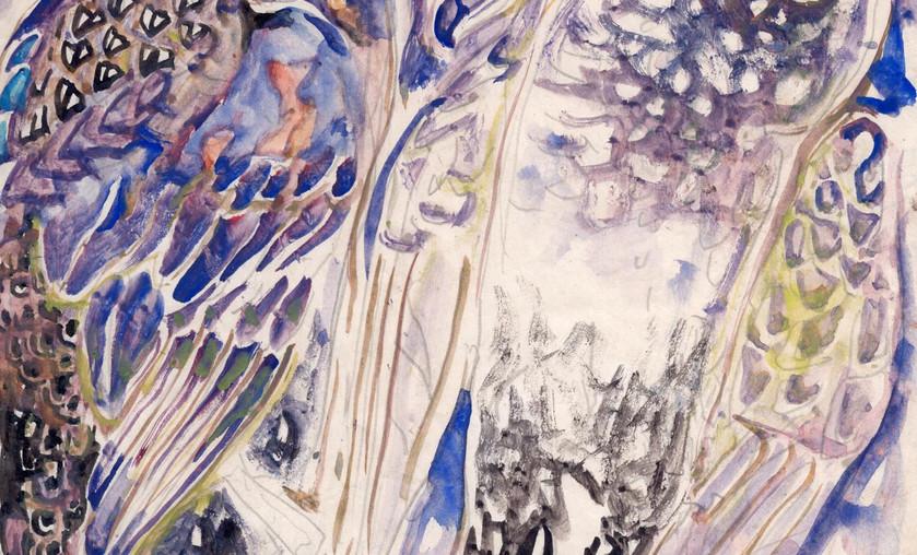 """Walter Inglis Anderson (1903-1965), """"Dead Ducks,"""" c. 1955. Watercolor on Paper."""